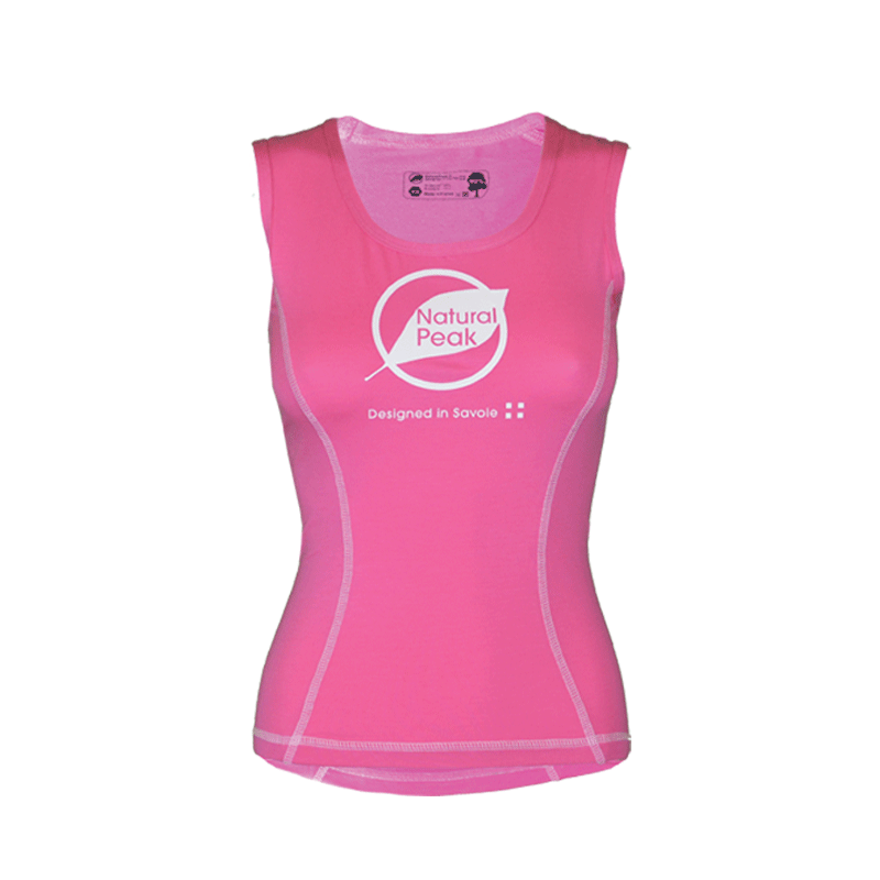 Tank Top « PACCALY Made in France» Frauen Rosa  - Paccaly Tee-shirt Manches Courtes de Natural Peakvous offre un confort excepti