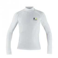 T-shirt manches longues Natural peak mixte tournette blanc