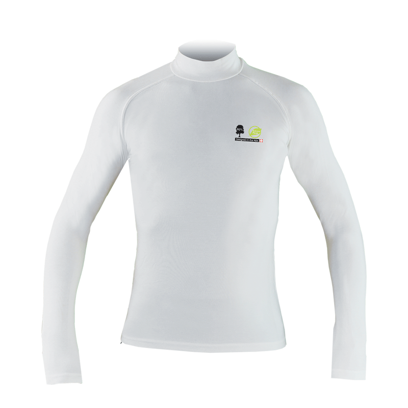 T-shirt manches longues Natural peak mixte tournette blanc