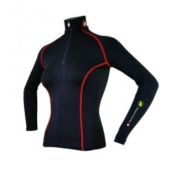 """Base Layer """"AIGUILLE VERTE"""" Woman Black/Red  - Women's Base Layer """"Aiguille Verte""""   Offers you exceptional comfort, perfect th"""