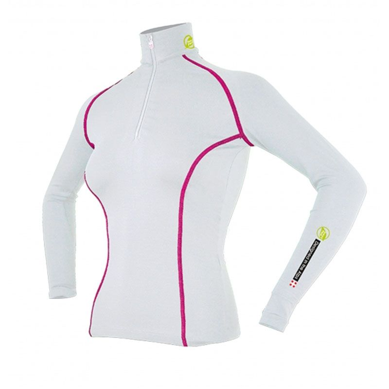 """Base Layer """"AIGUILLE VERTE"""" Woman White/Raspberry  - Women's Base Layer """"Aiguille Verte""""Offers you exceptional comfort, perfect"""