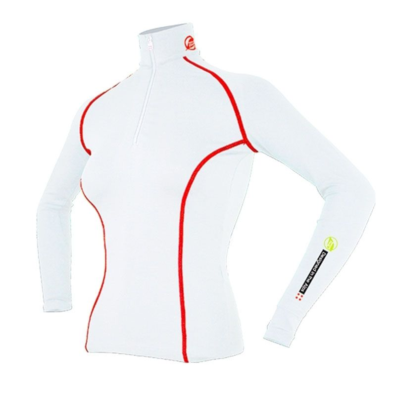 """Base Layer """"Aiguille Verte"""" Woman White/Red  - Women's Base Layer """"Aiguille Verte""""   Offers you exceptional comfort, perfect th"""