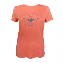 """Tee-shirt """"LA BOURGEOISE Great Adventure"""" Frau Koralle  - La Bourgeoise Motif """"Great Adventure"""" Tee-shirt Manches Courtes de Nat"""