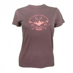 """Tee-shirt """"LA BOURGEOISE Great Adventure"""" Frau Mokka  - La Bourgeoise Motif """"Great Adventure"""" Tee-shirt Manches Courtes de Natur"""