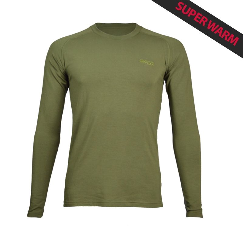 """Base Layer """"Walker"""" Men Khaki  - «Walker» Base Layer, man's low collar by Natural Peak®   Offers you exceptional comfort, perf"""