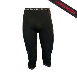 """Leggings ¾ « Dolent » Uomo Nero  - I Leggings ¾ uomo « Dolent » da Natural Peak®""""Super Warm""""Offrono un comfort eccezionale e un"""