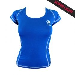 """Tee-shirt """"CHARVIN"""" Frauen Blau  - Das Damen-T-Shirt """"Charvin"""" von Natural Peak® 96% Eukalyptusfasern!  Das leichteste T-Shirt"""