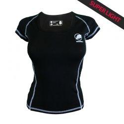 Tee-shirt « CHARVIN » Femme Noir  - Le Tee-shirt femme « Charvin » de Natural Peak® 96% Fibres d'Eucalyptus !Le tee-shirt le plu