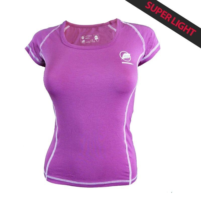 "Tee-shirt ""CHARVIN"" Frauen Lila  - Das Damen-T-Shirt ""Charvin"" von Natural Peak® 96% Eukalyptusfasern!  Das leichteste T-Shirt"