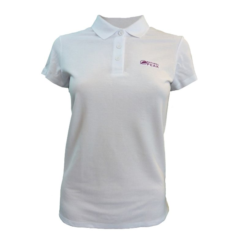 """Polo """"TRIOLET"""" Woman White  - Women's short-sleeved """"TRIOLET"""" polo shirt by Natural Peak®    The Life Style range from Natural"""