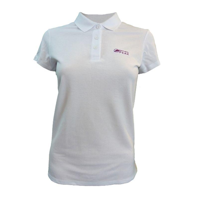 """Poloshirt """"TRIOLET"""" Frauen Weiß  - Kurzärmliges """"TRIOLET"""" -Poloshirt für Damen von Natural Peak®  Die Life Style-Reihe von Natu"""