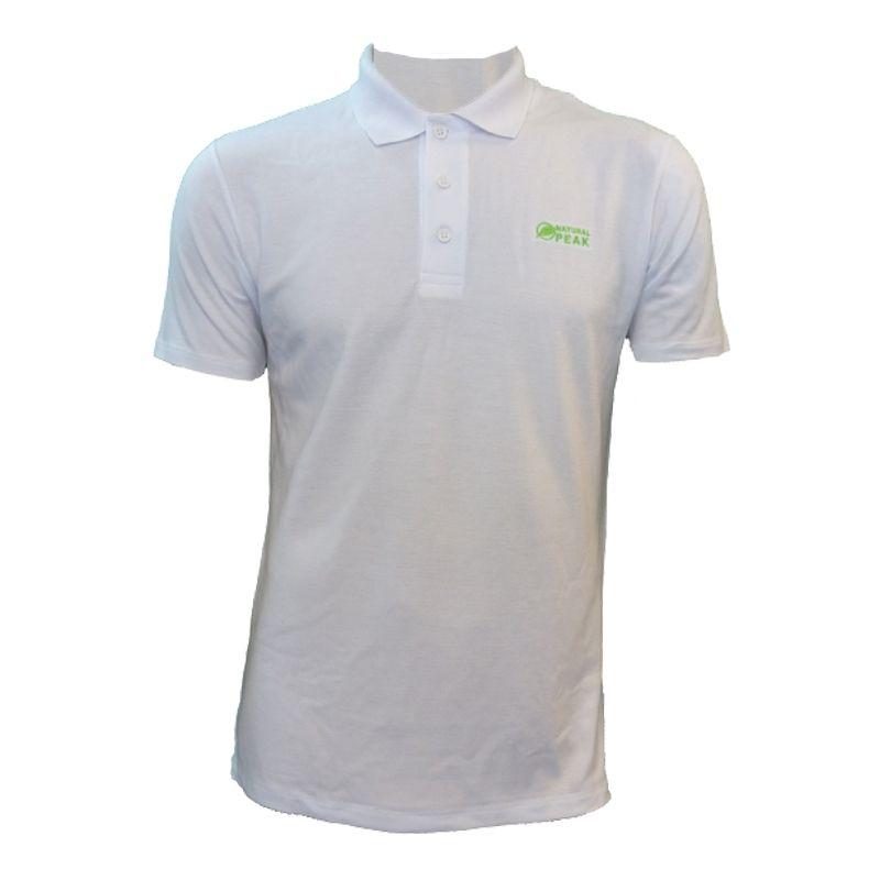 "Polo ""Triolet"" Men White  - Men's short-sleeved ""TRIOLET"" polo shirt by Natural Peak®  The Life Style range from Natural Peak®"