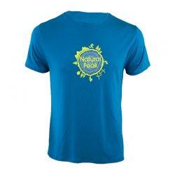 """Tee-shirt """"Bella Cha Around The World"""" Manner Blau  - Herren Kurzarm-T-Shirt """"Pointe de Bella Cha"""" mit """"Around the World"""" -Motiv"""