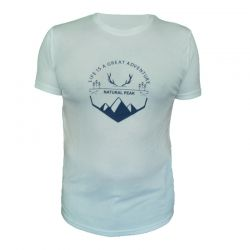 Tee-shirt « BELLA CHA Great Adventure » Homme Blanc (S - XXL)  - Tee-shirt homme manches courtes « Pointe de Bella Cha » motif «