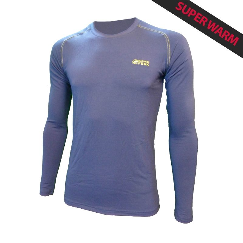 """Base Layer """"Walker"""" Men Blue Navy  - «Walker» Base Layer, man's low collar by Natural Peak® Offers you exceptional comfort, pe"""