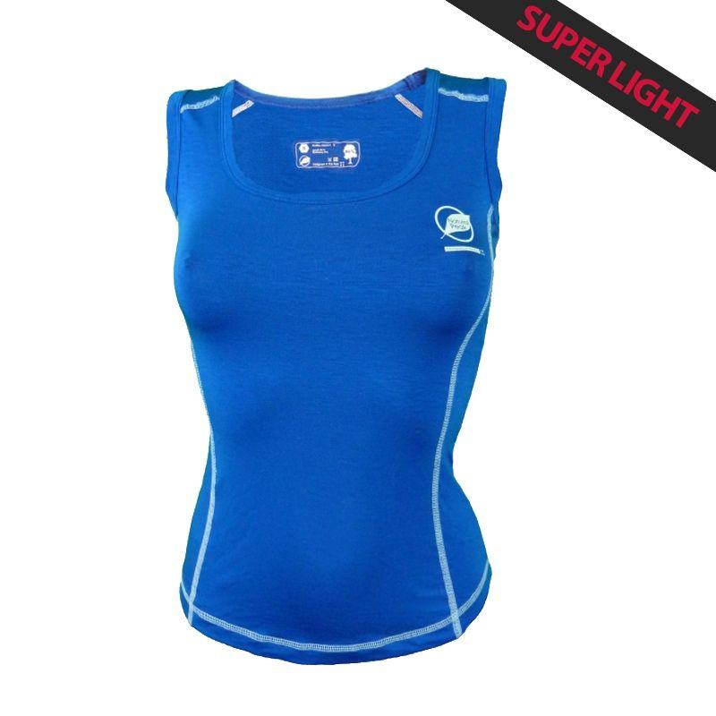 Canotta Donna « Paccaly » Blu  - La canotta donna « Paccaly » da Natural Peak® 96% Fibra di Eucalipto !La maglietta più leggera
