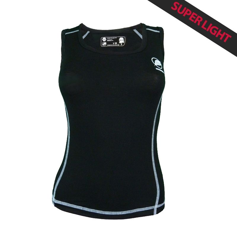 Canotta Donna « Paccaly » Nero  - La canotta donna « Paccaly » da Natural Peak® 96% Fibra di Eucalipto !La maglietta più leggera