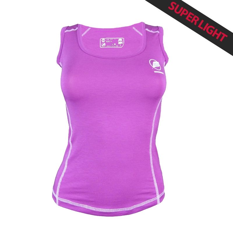 """Tank Top """"PACCALY""""  Woman Purple  - Natural Peak® """"Paccaly"""" women's tank top   96% Eucalyptus Fiber!      The lightest t-shirt"""