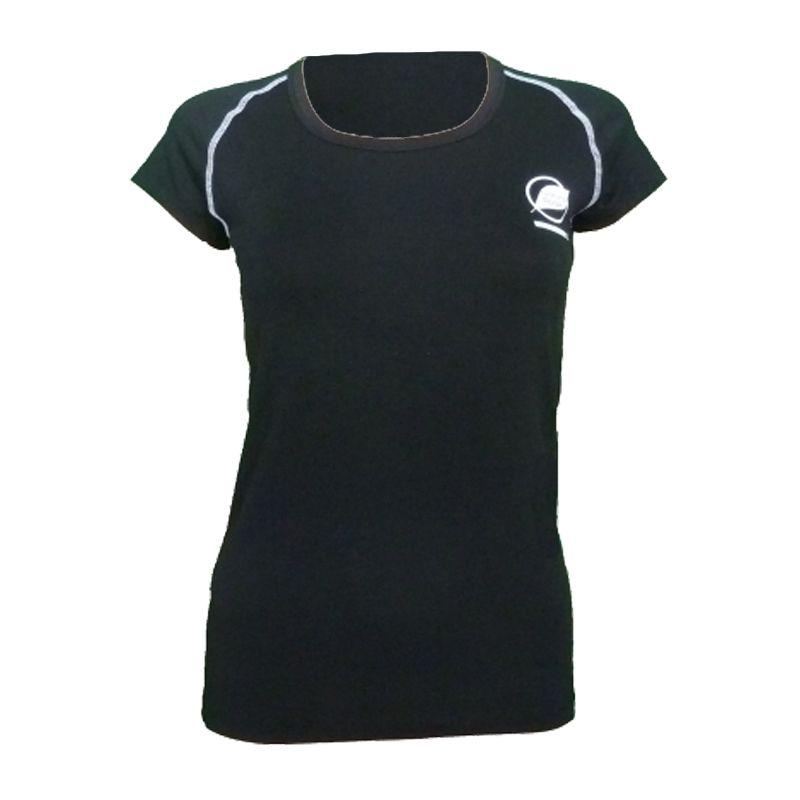 """Tee-Shirt """"ECRIN"""" Frauen Schwarz  - Das Damen-T-Shirt """"Ecrin"""" von Natural Peak® Bietet Ihnen außergewöhnlichen Komfort und perfe"""