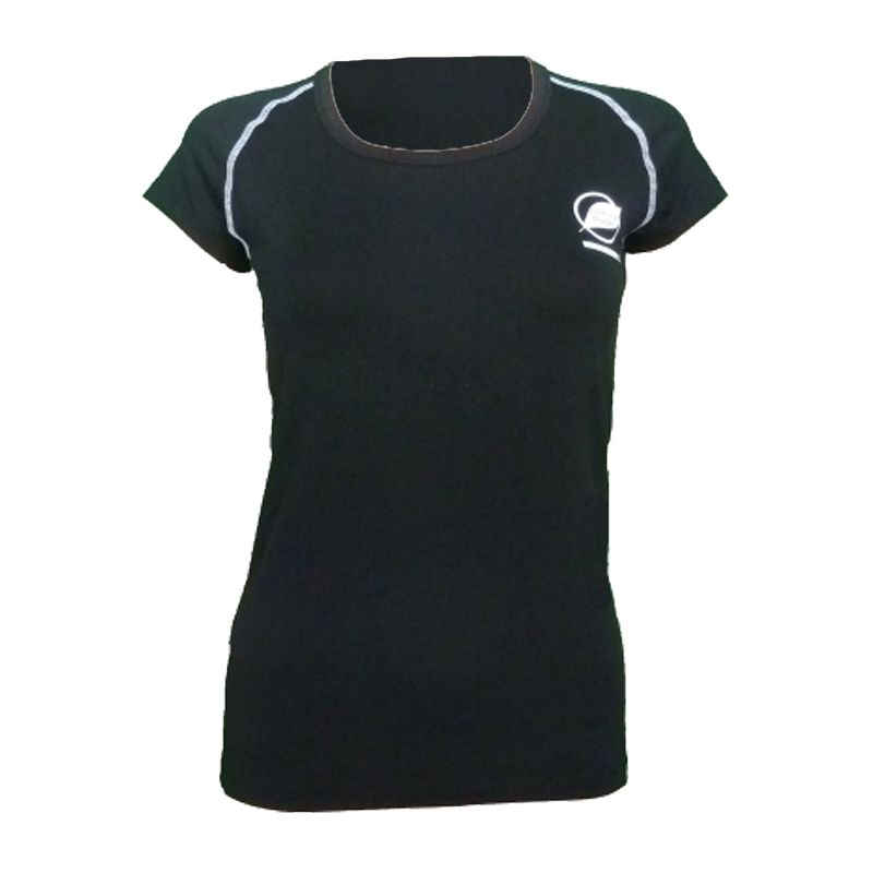 """Tee-shirt """"ECRIN"""" Woman Black  - The """"Ecrin"""" women's T-shirt by Natural Peak®   Offers exceptional comfort and perfect thermal i"""
