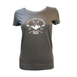 Tee-shirt « CHARVET Great Adventure» Femme Gris Anthracite