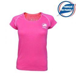 Tee-shirt « ECRIN » Femme Rose Foncé Made In France  - Le Tee-shirt femme « Ecrin » de Natural Peak® Made In FranceVous offre un