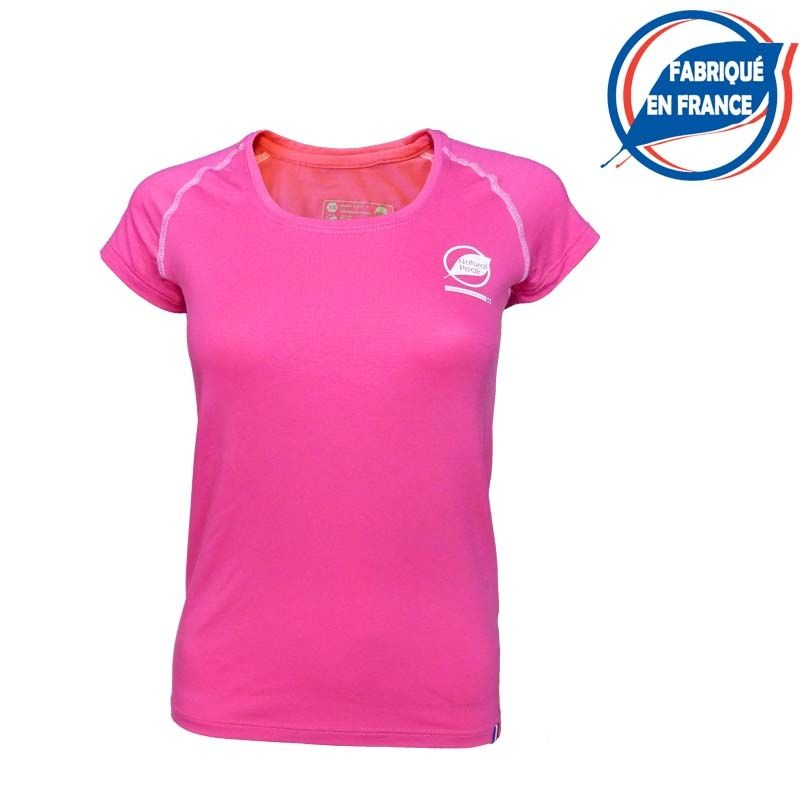 """copy of Tee-shirt """"ECRIN"""" Woman Pink Orange  - The """"Ecrin"""" women's T-shirt by Natural Peak®   Offers exceptional comfort and per"""