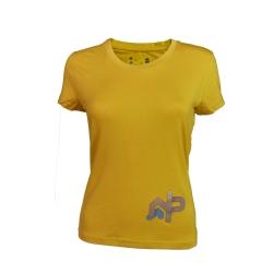 Tee-shirt « LE MOLE » Femme Ocre  - Tee-shirt femme manches courtes «Le Mole » de Natural Peak®96 % fibres de bois !La gamme Li