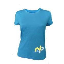 Tee-shirt « LE MOLE » Femme Bleu  - Tee-shirt femme manches courtes « Le Mole» de Natural Peak®96 % fibres de bois !La gamme Li