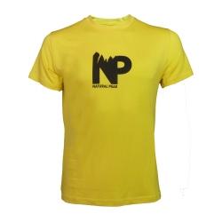 Tee-shirt « LE MOLE NP» Homme Jaune  - Tee-shirt homme manches courtes « Pointe de Bella Cha » motif « Great Adventure » de Natu