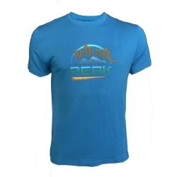 Tee-shirt « LE MOLE » Homme Bleu  - Tee-shirt homme manches courtes « Pointe de Bella Cha » motif « NP » de Natural Peak®94 % fi