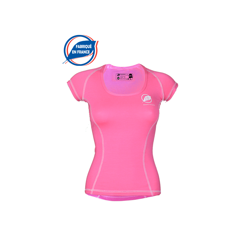 """Tee-shirt """"Bargy Made in France"""" Woman Pink  -  - 1"""