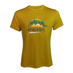 Tee-shirt « LE MOLE » Homme Ocre  - Tee-shirt homme manches courtes « Le Môle H » motif « NP » de Natural Peak®96 % fibres de bo